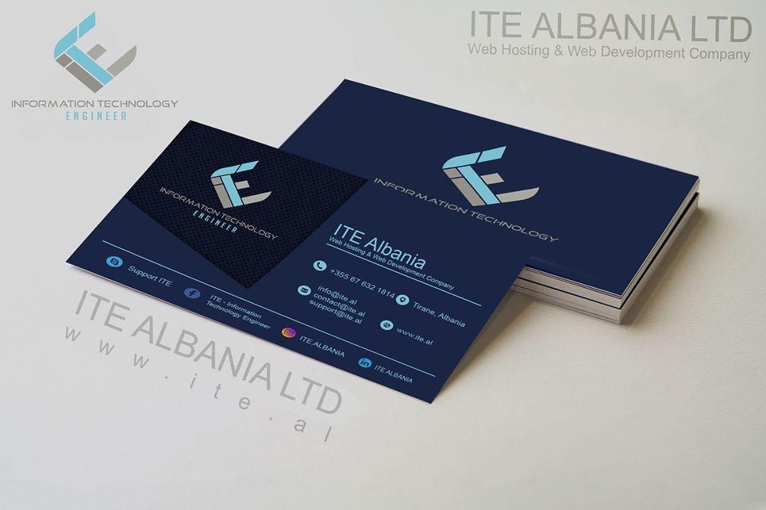 ITE Albania Card Visit - ITE Albania Ltd. | .AL Domain Registration, Web Hosting & Web Development