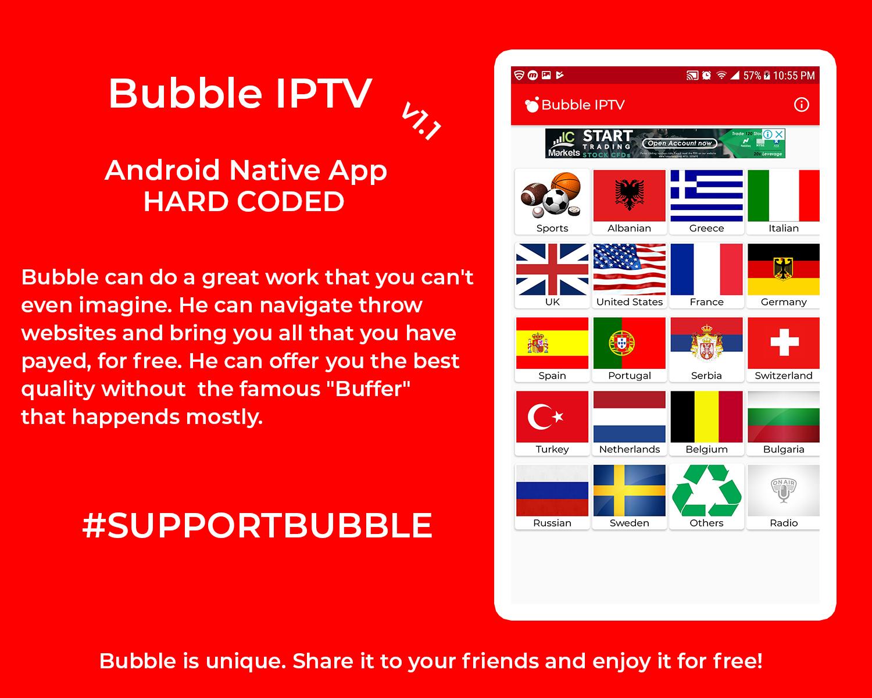 Bubble IPTV App