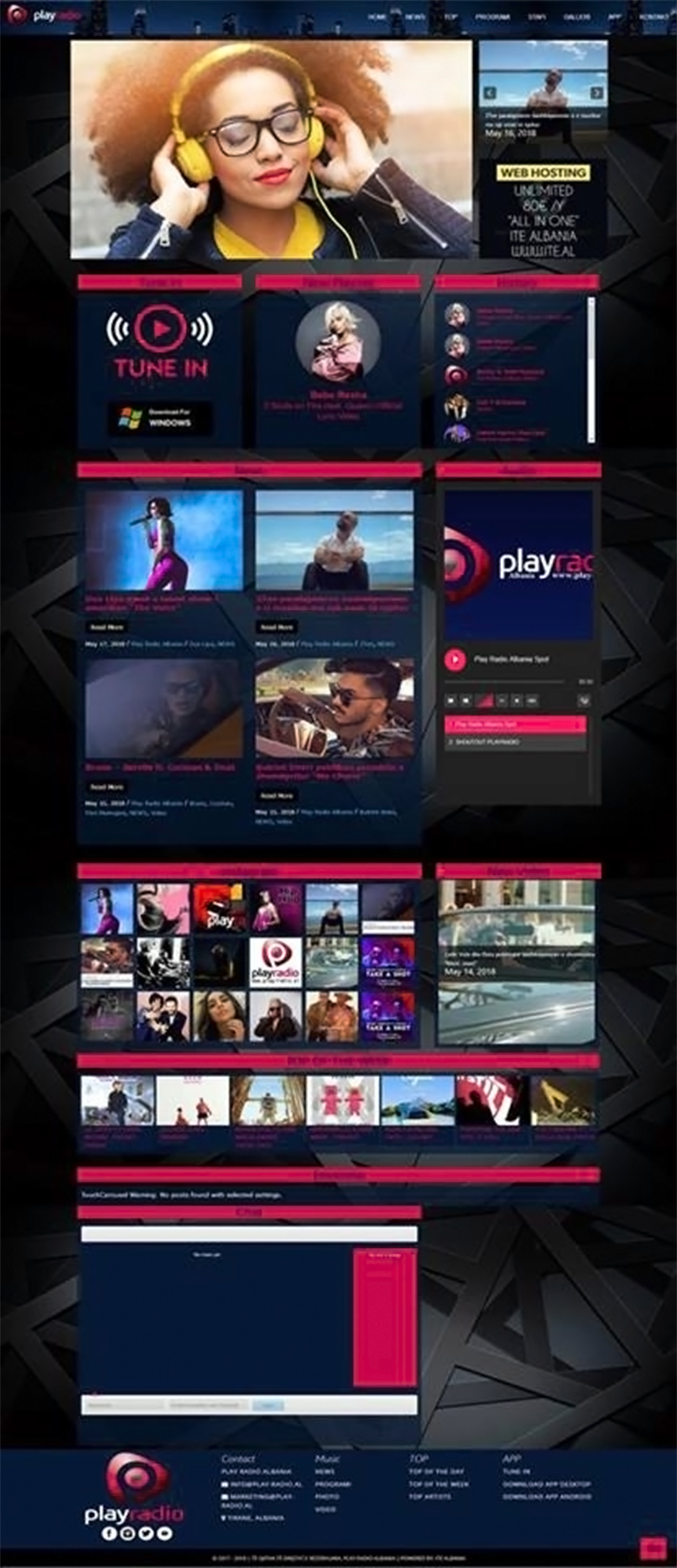 Play Radio Albania - ITE Albania Ltd. | .AL Domain Registration, Web Hosting & Web Development